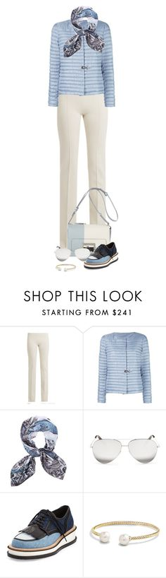"""Untitled #2238"" by lullilia ❤ liked on Polyvore featuring Ryan Roche, FAY, Siladora, Victoria Beckham, Givenchy and David Yurman"