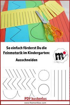 Montessori-inspired fine motor skills exercise: cutting - Home Montessori Kindergarten, Math Literacy, Kindergarten Activities, Drawing Activities, Motor Activities, Activities For Kids, Kindergarten Portfolio, Skill Training, Early Education