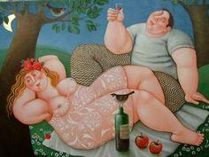 Lovers in the moonlight by Dutch artist: Ada Breedveld.