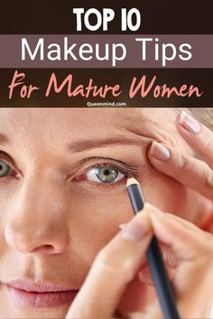 When you getting old, you need to know the right makeup application so as look younger! Learn the tips on makeup for mature women that will help to camouflage the ageing signs. 10 makeup ideas for older women Eyebrow Makeup Tips, Old Makeup, Best Makeup Tips, Contour Makeup, Skin Makeup, Makeup Application, Makeup Ideas, Makeup Tips For 50 Year Olds, Makeup For 60 Year Old
