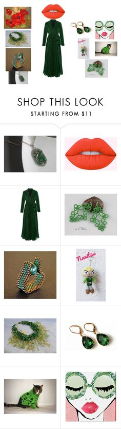 """""""Green and Red"""" by mariellascode ❤ liked on Polyvore featuring Nintendo, Olivine, Oliver Gal Artist Co. and vintage"""