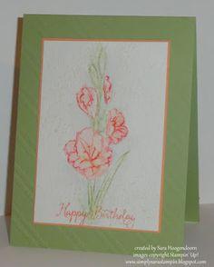 Simply Sara Stampin': Stampin' Up! ~ Gift of Love in Watercolor