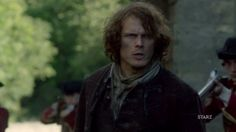 Sam Heughan as James Alexander Malcolm MacKenzie Fraser, coming home to find the red coats in wait - Outlander_Starz Season 3 Voyager - July 18th, 2017