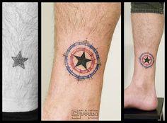 star tattoo designs 1.20.1 transformation captain america
