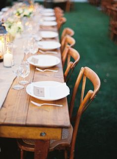 Farm tables are just so awesome ;) Photography by tecpetaja.com