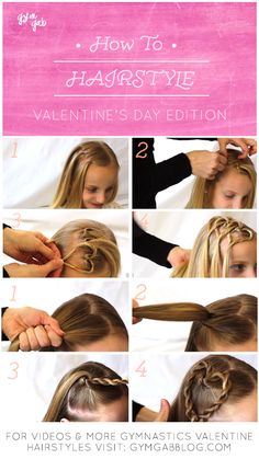 Valentine hair fitting for workout. Visit gymgabblog.com for the how-to video and more ideas.