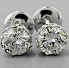 2Ct Round Cut VVS1/D Diamond Solitaire Push Back Earrings 14K White Gold Finish | eBay Jewelry Box, Jewelery, Vintage Jewelry, Jewelry Accessories, Fine Jewelry, Diamond Studs, Diamond Jewelry, Diamond Earrings, Solitaire Diamond
