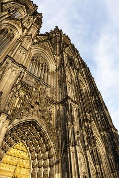 Entrance to Cologne Cathedral. Germany~ So breathtaking in person!