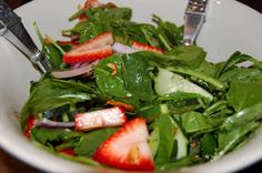Dinner with The Donnells: Strawberry Spinach Salad