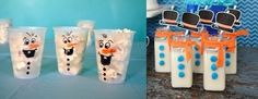 vasos decorados como si fueran olaf con comida (palomitas) y bebida dentro (leche) Frozen Birthday Cake, Frozen Party, 3rd Birthday, Olaf, Elsa Frozen, Freeze, Birthday Celebration, Birthday Parties, Ideas Para Fiestas