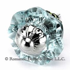 Arctic Blue Glass Cabinet Knobs, Dresser Drawer & Handles Set/2pc ~ K186FF Art Deco Glass Knobs w/ Chrome Florentine Hardware for Armoire, Kitchen Cabinets, Cupboards, and Second Hand Furniture, Knobs - Amazon Canada
