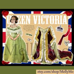 Her Majesty Queen Victoria magnetic paper doll by MellyMo on Etsy, $12.00