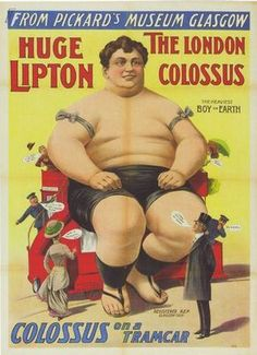 Vintage Circus Freak Show Poster The Colossus of London A3  Reprint