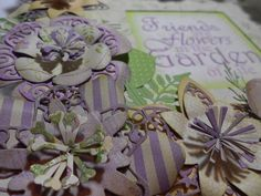Detailed shot of the frame using Lavish blooms from Tattered Lace dies