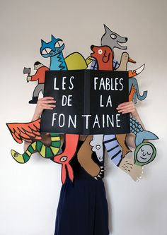 Jean Julien © La fontaine Lorax feet/arms/hair behind book? Up Book, Book Art, Book Design, Design Art, Graphic Design, Paper Design, Creative Design, Jean Julien, Libros Pop-up
