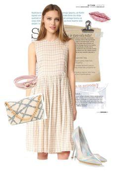 """dress"" by masayuki4499 ❤ liked on Polyvore featuring The Great., STELLA McCARTNEY, Serpui and Salvatore Ferragamo"