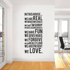 Family Rules - In This House We Do Wall Decal Sticker — Removable Wall Decals & Stickers by My Friend Matilda Vinyl Wall Stickers, Wall Decal Sticker, Wall Vinyl, Vinyl Art, Vinyl Decor, Home Tumblr, Family Rules, Family Motto, Family Room