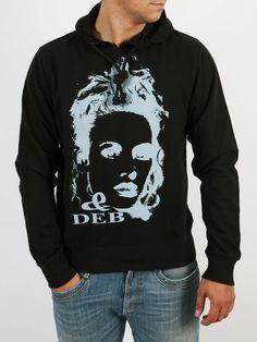 DE BLASIO - Μπλούζα με κουκούλα και τύπωμα εμπρός. Hoodies, Sweaters, Style, Fashion, Swag, Moda, Sweatshirts, Fashion Styles, Parka