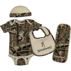 Browning® Baby Infants' Four-Piece Camo Set at Cabela's    Oh my gosh