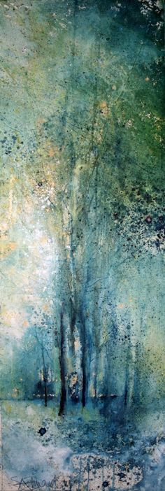'Cathedral of Birdsong' by Stewart Edmondson 24x70cm mixed media £850 http://www.dart-gallery.com/gallery_detail.asp?id=2438