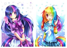 20% Cooler anime female fenrixion generation_4 human humanized rainbow_dash schoolgirl twilight_sparkle
