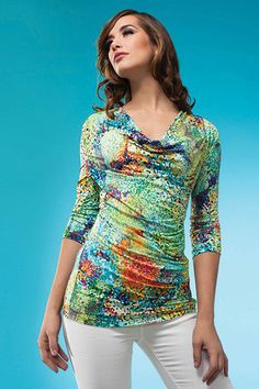 This top is so springy and fun! Spring 2014, Spring Summer, Style Clothes, Tankini, Blouse, Swimwear, Fun, Collection, Tops