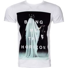 Bring Me The Horizon Cloaked T Shirt (White) ($20) ❤ liked on Polyvore featuring tops, t-shirts, checkered top, white t shirt, white tee and white top