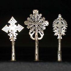 3 X Croix DE Procession Orthodoxe Copte Ethiopie Religieux Religieuse Arte | eBay