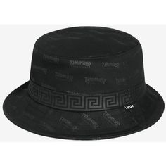 fc54e21303a Huf x Thrasher Bucket Hat - Black (140 BRL) ❤ liked on Polyvore featuring