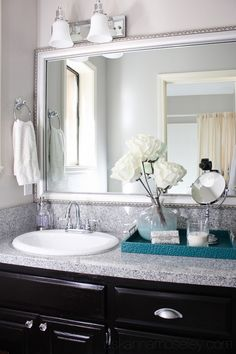 Chic Guest Bathroom Makeover ~ From Pink to Fab