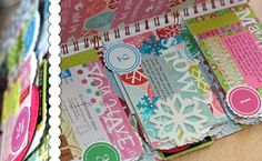 Journal your Christmas online scrapbooking class:: Use non traditional colors. pops of pink and blue etc #SimpleDecDaily