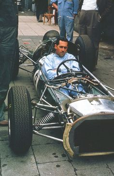 Jack Brabham, German Grand Prix 1963 | Driving a F1 Brabham-Climax | finished one place up off 8th on the start with 7th by race end | Race was one by John Surtees \ http://en.wikipedia.org/wiki/1963_German_Grand_Prix