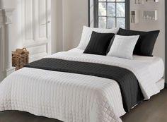 Kvalitné prehozy na manželskú posteľ béžovo čiernej farby Bed, Furniture, Home Decor, Homemade Home Decor, Stream Bed, Home Furnishings, Beds, Decoration Home, Arredamento