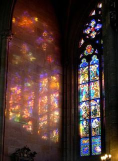 Beautiful photo....stained glass in sunlight.