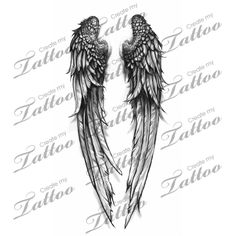 Fallen Angel wings custom tattoo | wings 4 #31463 | CreateMyTattoo.com
