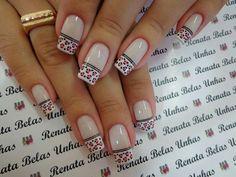 Hermosas Fabulous Nails, Perfect Nails, Glam Nails, Fun Nails, French Nails, Leopard Nails, New Nail Art, Toe Nail Designs, Stylish Nails