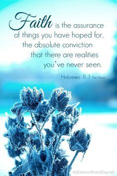 Faith... Hebrews 1:11