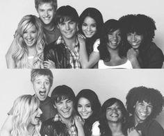 High school musical cast #childhood #2000's #ashley tisdale aka sharpay evans #zac efron aka troy bolton #vanessa anne hudgens aka #gabriella