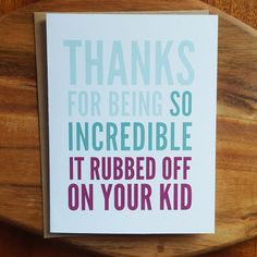 Funny Fathers Day Card Funny Mothers Day Card by DaviePaperCo