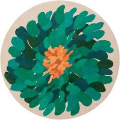 Hand-tufted Contemporary /Green Bostor New Zealand Wool Abstract Rug (8' Round) - Overstock.com