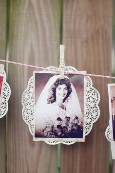 Kelly! Look... I think pinning up wedding pictures of other people in your family is a great touch