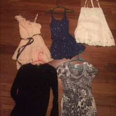 Lot of women's size small and medium Can separate- most new or worn once. Dresses and tops and blue romper Other
