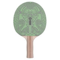 Custom Dragon Ping Pong Paddle green on black Dragon Face, Dragon Princess, Ping Pong Paddles, Chinese Symbols, Face Design, Day Up, Black Rubber, Dungeons And Dragons, Celtic