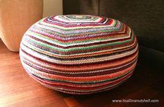 colors stripey pouf free crochet pattern More