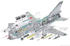 SUKHOI Su-22 Military Jets, Military Aircraft, Jet Engine Parts, Draw Diagram, Airplane Illustration, Jet Air, Sukhoi, Aircraft Design, Cutaway