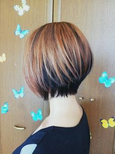 Or should I go shorter with thebob?  What do you think? 2tone bob hair color cut style