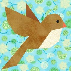 Bluebird of Happiness Paper Pieced Block