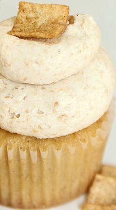 Cinnamon Toast Crunch Cupcakes with Cinnamon Buttercream Recipe | Sweet Little Details
