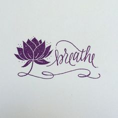 Breathe Lotus Flower Stamp – yoga rubber stamp Source by etsy Yoga Tattoos, Girl Arm Tattoos, Wrist Tattoos, Body Art Tattoos, Arabic Tattoos, Breathe Symbol, Just Breathe Tattoo, Breathe Tattoos, Sanskrit Tattoo