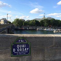Strolls by the Quai d'Orsay in Paris